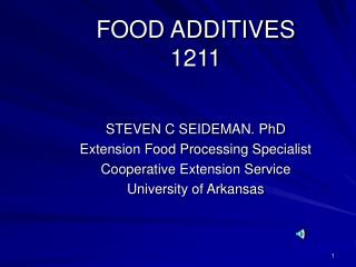 FOOD ADDITIVES 1211
