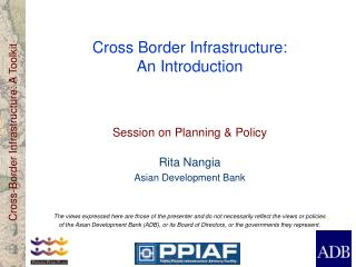Cross Border Infrastructure: An Introduction