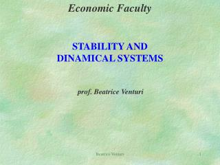 Economic Faculty