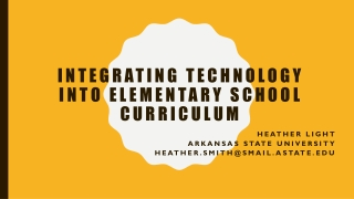 Classroom Integration of Technology