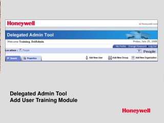 Delegated Admin Tool Add User Training Module