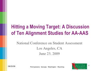 Hitting a Moving Target: A Discussion of Ten Alignment Studies for AA-AAS