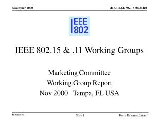 IEEE 802.15 & .11 Working Groups