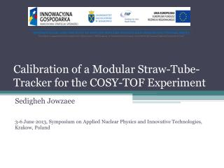 Calibration of a Modular Straw-Tube-Tracker for the COSY-TOF Experiment