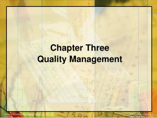 Chapter Three Quality Management