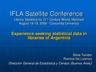 IFLA Satellite Conference