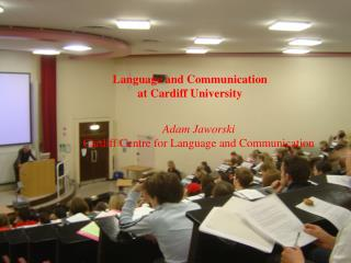 Language and Communication at Cardiff University