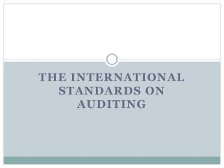 The international standards on auditing