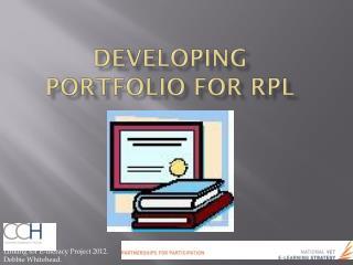Developing Portfolio for RPL
