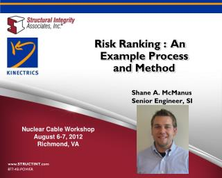 Risk Ranking :  An Example Process and Method