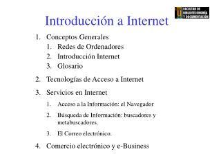 Introducción a Internet