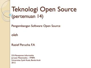 Definisi  Open Source