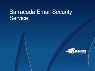 Barracuda Email Security Service