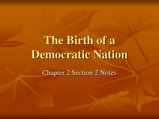 Chapter 2 Birth of a Nation