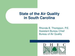 State of the Air Quality  in South Carolina