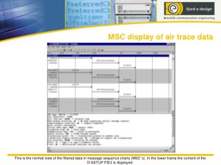 MSC display of air trace data