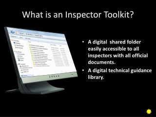 What is an Inspector Toolkit?