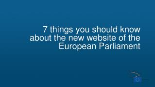 7 things you should know about the new website of the European Parliament