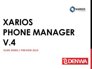 XARIOS Phone manager  v.4