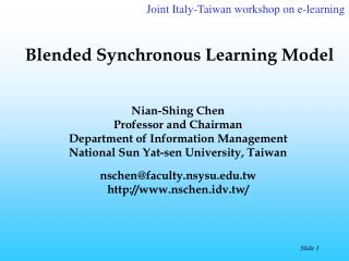 Blended Synchronous Learning Model