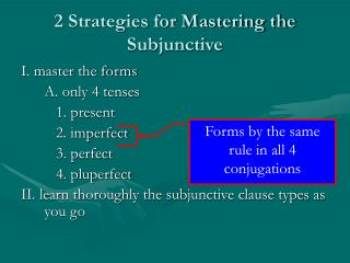 2 Strategies for Mastering the Subjunctive