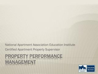 Property Performance Management