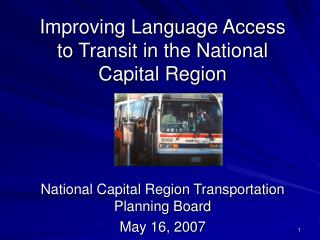 Improving Language Access to Transit in the National Capital Region