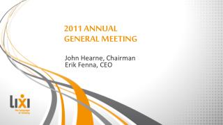 2011 ANNUAL GENERAL MEETING