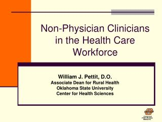 Non-Physician Clinicians in the Health Care Workforce