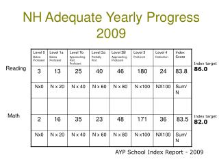 NH Adequate Yearly Progress 2009