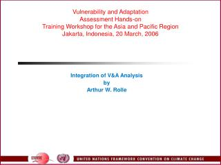 Integration of V&A Analysis by Arthur W. Rolle