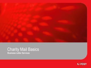 Charity Mail Basics