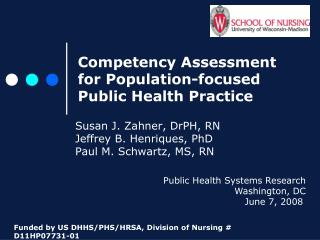 Competency Assessment for Population-focused Public Health Practice