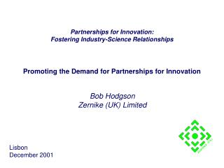 Promoting the Demand for Partnerships for Innovation