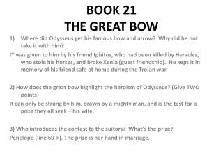 BOOK 21  THE GREAT BOW