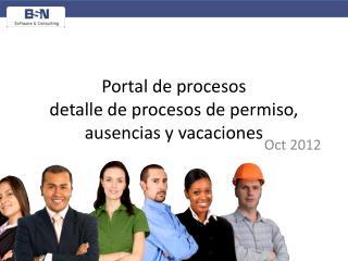 Portal de procesos detalle de procesos de permiso, ausencias y vacaciones