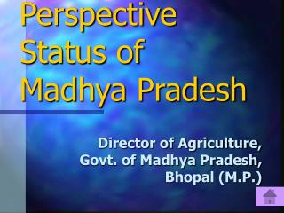 Wheat in Global Perspective  Status of  Madhya Pradesh