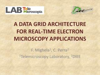 A DATA GRID ARCHITECTURE FOR REAL-TIME ELECTRON MICROSCOPY APPLICATIONS