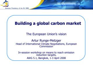 Building a global carbon market