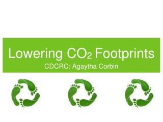 Lowering CO 2  Footprints