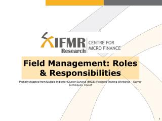 Field Management: Roles & Responsibilities