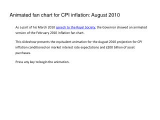 Animated fan chart for CPI inflation: August 2010