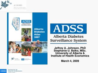 Jeffrey A. Johnson, PhD Stephanie U. Balko, MSc. University of Alberta &