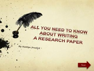 All You Need To Know About Writing  A Research Paper