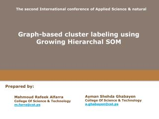 Graph-based cluster labeling using Growing Hierarchal SOM