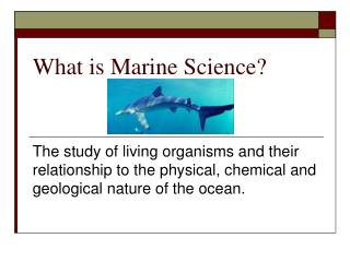 What is Marine Science?