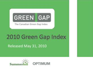 2010 Green Gap Index