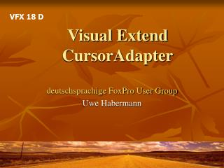 Visual Extend CursorAdapter