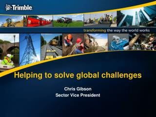 Helping to solve global challenges