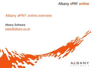 Albany e PAY online  overview